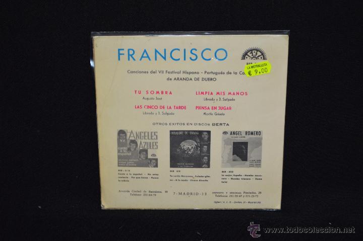 Discos de vinilo: FRANCISCO - TU SOMBRA +3 - EP - Foto 2 - 51473844