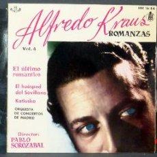 Discos de vinilo: 2 ALFREDO KRAUS 4 EXITOS ROMANZAS COPPELIA DELIBES BALLET ERNEST ANSERMET VINILO 45 RPM . Lote 51478419