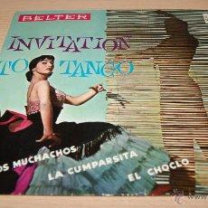 Discos de vinilo: ROLAND PALETTE Y SU ORQUESTA - INVITATION TO TANGO - BELTER 1960. Lote 51487285