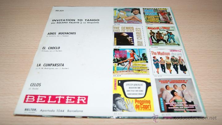 Discos de vinilo: ROLAND PALETTE Y SU ORQUESTA - INVITATION TO TANGO - BELTER 1960 - Foto 2 - 51487285