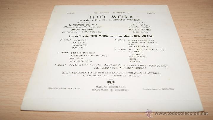Discos de vinilo: TITO MORA - RCA VICTOR - 1963 - Foto 2 - 51487420