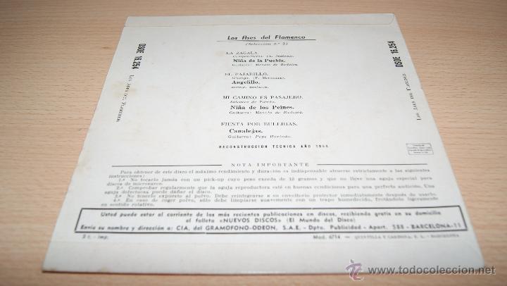 Discos de vinilo: LOS ASES DEL FLAMENCO Nº3 ODEON -1958 - Foto 2 - 51488236