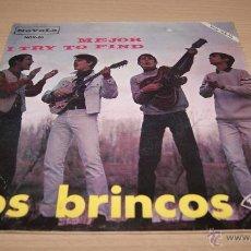 Discos de vinilo: LOS BRINCOS - MEJOR-I TRY TO FIND -1966. Lote 51488409