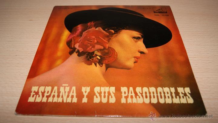 ESPAÑA Y SUS PASODOBLES - LA VOZ DE SU AMO - 1958 (Música - Discos de Vinilo - EPs - Flamenco, Canción española y Cuplé)