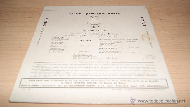 Discos de vinilo: ESPAÑA Y SUS PASODOBLES - LA VOZ DE SU AMO - 1958 - Foto 2 - 51488715