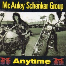 Discos de vinilo: MCAULEY SCHENKER GROUP, SG, ANYTIME + 1, AÑO 1990 MADE IN ENGLAND. Lote 51489284
