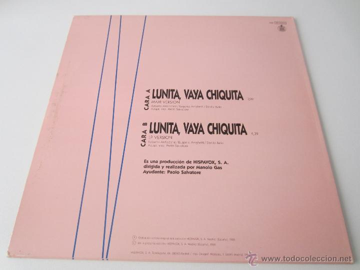 Discos de vinilo: PAOLO SALVATORE (MANOLO GAS) - LUNITA, VAYA CHIQUITA (2 VERSIONES) 1989 SPAIN MAXI SINGLE - Foto 2 - 128604216