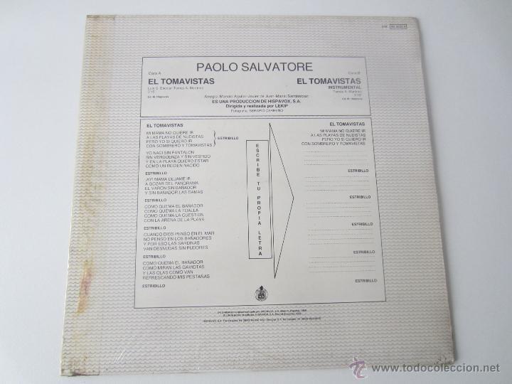 Discos de vinilo: PAOLO SALVATORE - EL TOMAVISTAS (2 VERSIONES) 1986 SPAIN MAXI SINGLE - Foto 2 - 51491249