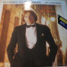 Discos de vinilo: 1 LP VINILO DOBLE DE RICHARD CLAYDERMAN EN CONCIERTO - COUP DE COEUR 1981. Lote 51495490