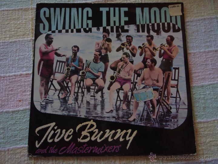 JIVE BUNNY AND THE MASTERMIXERS (SWING THE MOOD) GERMANY MAXISINGLE 45RPM BCM RECORDS (Música - Discos de Vinilo - Maxi Singles - Jazz, Jazz-Rock, Blues y R&B)