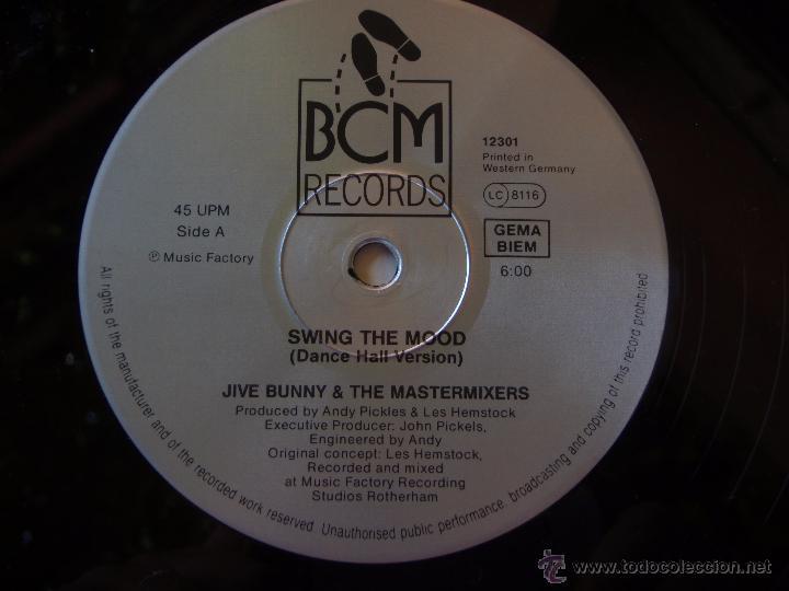 Discos de vinilo: JIVE BUNNY and THE MASTERMIXERS (SWING THE MOOD) GERMANY MAXISINGLE 45RPM BCM RECORDS - Foto 4 - 51496244