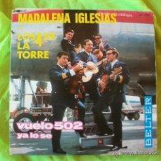 Discos de vinilo: MADALENA IGLESIAS + LOS 4 DE LA TORRE - VUELO 502 - EP 1966. Lote 51505578