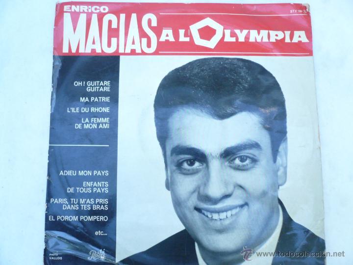 LP ENRICO MACIAS RECITAL AL OLYMPIA, 1964 (Música - Discos - LP Vinilo - Canción Francesa e Italiana)