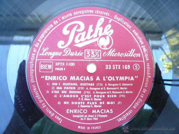 Discos de vinilo: LP ENRICO MACIAS RECITAL AL OLYMPIA, 1964 - Foto 3 - 51512700