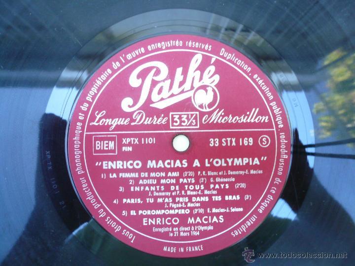 Discos de vinilo: LP ENRICO MACIAS RECITAL AL OLYMPIA, 1964 - Foto 4 - 51512700