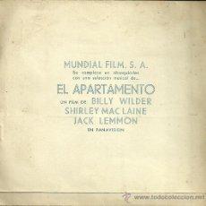 Dischi in vinile: BANDA SONORA DEL FILM EL APARTAMENTO DISCO FLEXI COLOR AZUL PROMOCIONAL. Lote 51513167