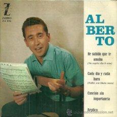 Discos de vinilo: ALBERTO EP SELLO ZAFIRO AÑO 1964 EDITADO EN ESPAÑA. Lote 51513303