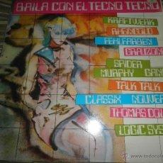 Discos de vinilo: BAILA CON EL TECNO TECNO LP - ORIGINAL ESPAÑOL - EMI / ODEON RECORDS 1982 CON FUNDA INT. ORIGINAL -. Lote 51516525