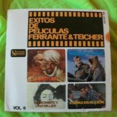 Discos de vinilo: FERRANTE Y TEICHER - GRANDES EXITOS DE PELICULAS VOL 6 EP 1966. Lote 51518797