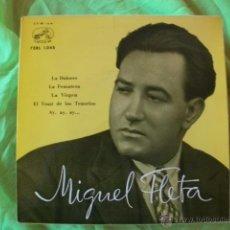 Discos de vinilo: MIGUEL FLETA SINGLE EP LA DOLORES 1959. Lote 51519120