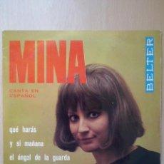 Discos de vinilo: MINA- QUE HARAS +3- EP BELTER 1965. Lote 51521501