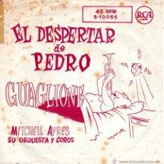 Discos de vinilo: MITCHELL AYRES SU ORQUESTA Y COROS, SG, EL DESPERTAR DE PEDRO + 1, AÑO 1959. Lote 51523385