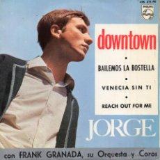 Discos de vinilo: JORGE CON FRANK GRANADA SU ORQUESTA Y COROS, EP, DOWNTOWN + 3, AÑO 1965. Lote 51524347