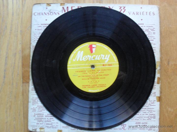 Discos de vinilo: FRANKIE LAINE, FAVOURITES BY THE RIVER ST MARIE, MERCURY, 1949 10 Pulgadas - Foto 3 - 51542035
