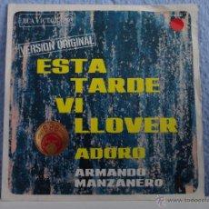 Discos de vinilo: ARMANDO MANZANERO - ESTA TARDE VI LLOVER / ADORO // 1967. Lote 51558874