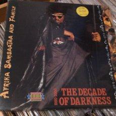Discos de vinilo: AFRIKA BAMBAATAA & FAMILY - 1990-2000 THE DECADE OF DARKNESS (LP, ALBUM) 1991 SPAIN . Lote 51568968