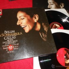 Discos de vinilo: SONNAMBULA BELLINI CALLAS MONTI+RATTI+COSSOTTO++ SCALA VOTTO 2LP BOX CAJA GERMANY EX. Lote 51572109