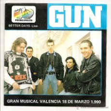 Vinyl records - Gun - Better Days (Live) (A&M Records - 390 528-7 - Promo - 1989) - 51573156