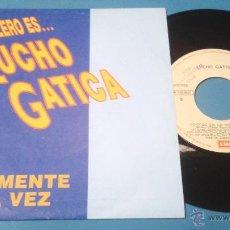 Discos de vinilo: LUCHO GATICA - SOLAMENTE UNA VEZ / CONTIGO EN LA DISTANCIA, SINGLE DEL SELLO EMI DEL AÑO 1990. Lote 51585077