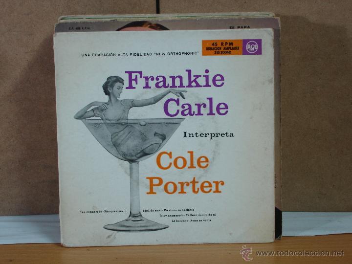 FRANKIE CARLE - FRANKIE CARLE INTERPRETA COLE PORTER - RCA ·B 20042 - 1955 - 2XEP (Música - Discos de Vinilo - EPs - Jazz, Jazz-Rock, Blues y R&B)