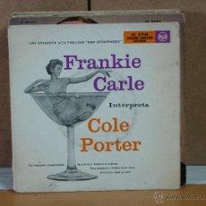 Discos de vinilo: FRANKIE CARLE - FRANKIE CARLE INTERPRETA COLE PORTER - RCA ·B 20042 - 1955 - 2XEP. Lote 51589262