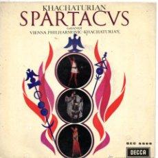 Discos de vinilo: SPARTACUS - ARAM KHACHATURIAM, EP, VARIACION DE AEGINA Y BACCHANALIA + 1, AÑO 1963. Lote 51609635