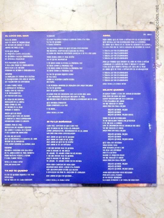 Discos de vinilo: LP JOSE MANUEL SOTO - DEJATE QUERER - EPIC 1991. - Foto 3 - 51609863