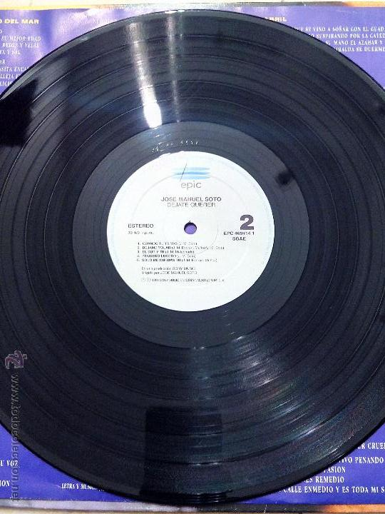 Discos de vinilo: LP JOSE MANUEL SOTO - DEJATE QUERER - EPIC 1991. - Foto 5 - 51609863