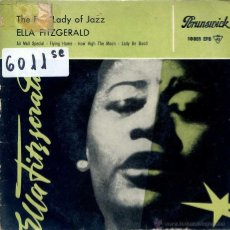 Discos de vinilo: ELLA FITZGERALD / AIR MAIL SPECIAL / FLYING HOME + 2 (EP 1959). Lote 51613612