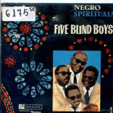 Discos de vinilo: THE FIVE BLIND BOYS / I NEVER HEARD A MAN / I'M A SOLDIER + 2 (EP 1960) VINILO AZUL. Lote 51613706