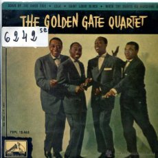 Discos de vinilo: THE GOLDEN GATE QUARTET / DOWN BY THE RIVER SIDE / LULA + 1 (EP 1960). Lote 51613803