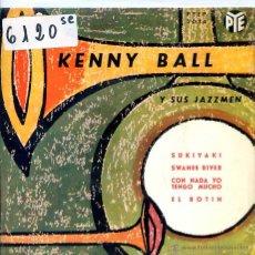 Discos de vinilo: KENNY BALL Y SUS JAZZMEN / SUKIYAKI / SWANEE RIVER + 2 (EP 1963). Lote 51614466