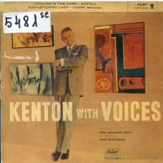 Discos de vinilo: KENTON WITH VOICES / BAILANDO EN LA OSCURIDAD / SUAVEMENTE + 2 (EP 1959). Lote 51614560