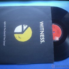 Discos de vinilo: WITNESS LIGHT AT THE END OF THE TUNNEL MAXI UK 1991 PDELUXE. Lote 51615980