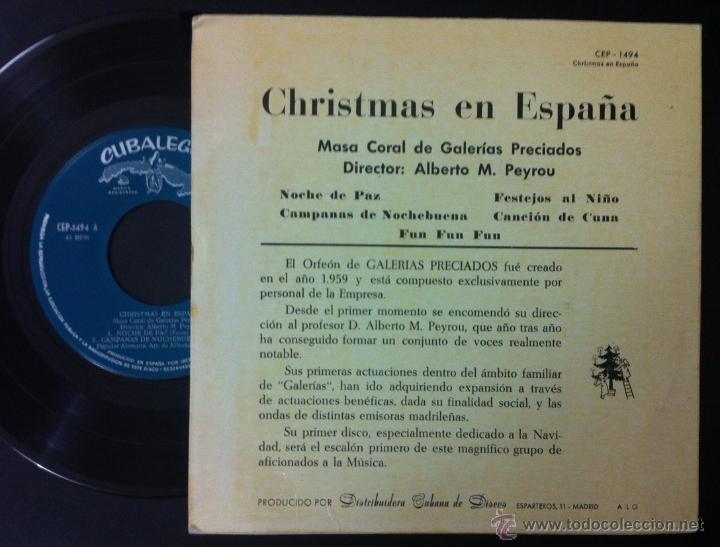 Discos de vinilo: ORFEÓN DE GALERÍAS PRECIADOS - 1962 - DIRECTOR: ALBERTO M. PEYROU - Foto 2 - 51620180