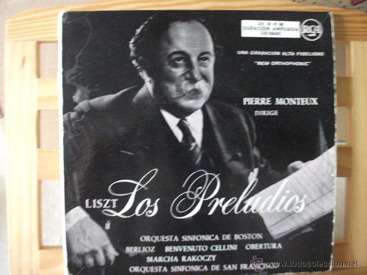 DOBLE EP CON LOS PRELUDIOS DE LISZT Y OBRAS DE BERLIOZ, DIRIGE PIERRE MONTEUX, DOBLE CARPETA (Música - Discos de Vinilo - EPs - Clásica, Ópera, Zarzuela y Marchas)