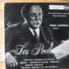 Discos de vinilo: DOBLE EP CON LOS PRELUDIOS DE LISZT Y OBRAS DE BERLIOZ, DIRIGE PIERRE MONTEUX, DOBLE CARPETA. Lote 51629334