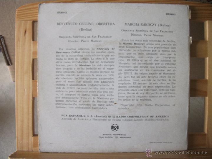 Discos de vinilo: DOBLE EP CON LOS PRELUDIOS DE LISZT Y OBRAS DE BERLIOZ, DIRIGE PIERRE MONTEUX, DOBLE CARPETA - Foto 2 - 51629334