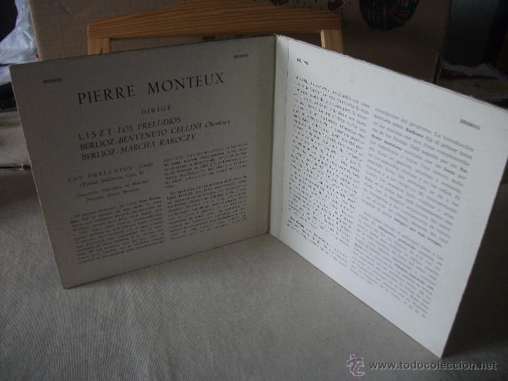 Discos de vinilo: DOBLE EP CON LOS PRELUDIOS DE LISZT Y OBRAS DE BERLIOZ, DIRIGE PIERRE MONTEUX, DOBLE CARPETA - Foto 3 - 51629334