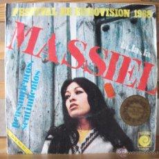 Discos de vinilo: SINGLE DE MASSIEL, LA, LA, LA / PENSAMIENTOS, SENTIMIENTOS, PRIMER PREMIO EUROVISIÓN 1968. Lote 51629922